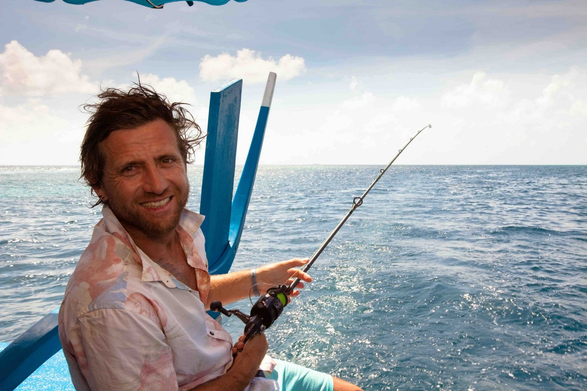 Sean enjoying a fruitful fishing session