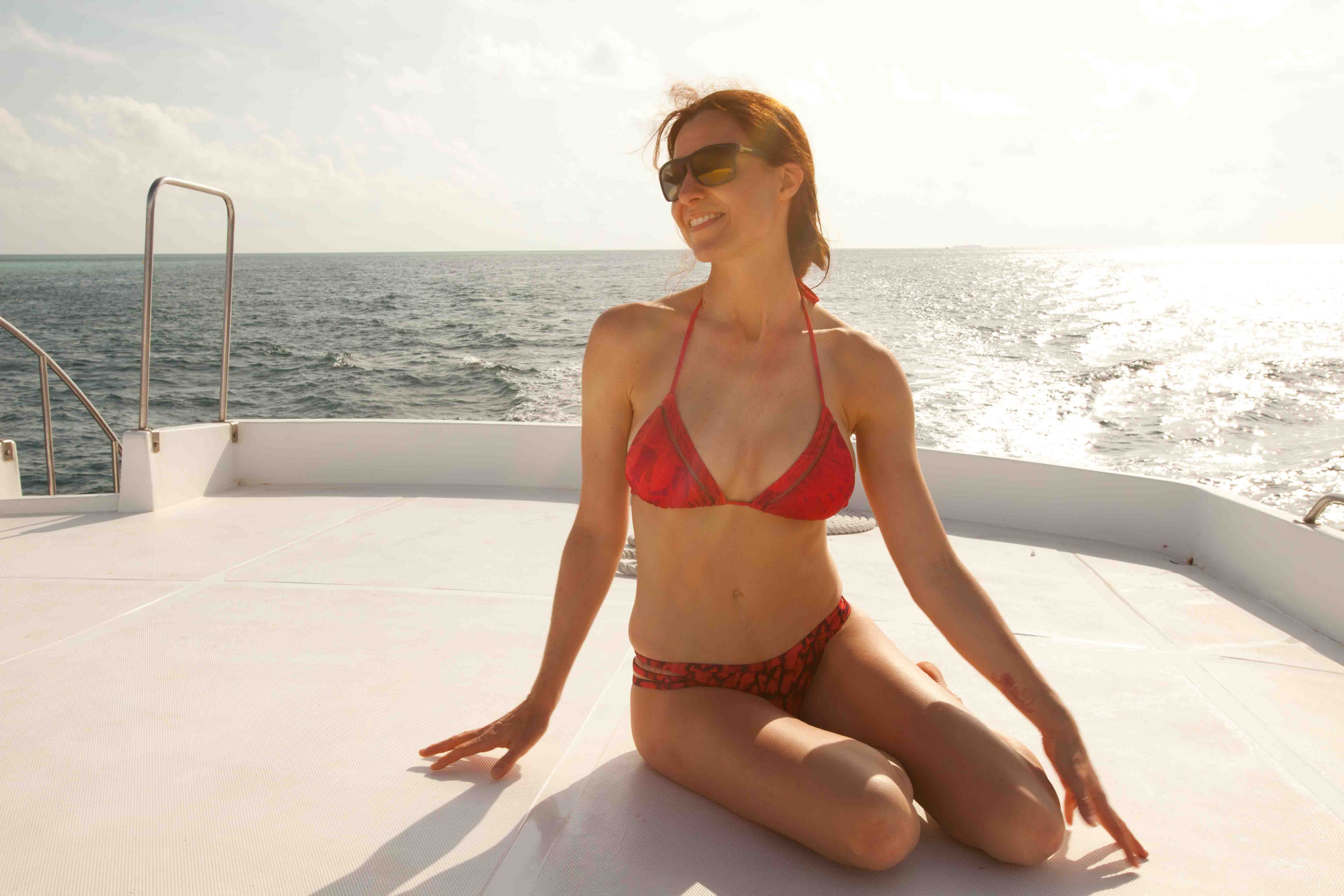 Sean's wife Jeannie loving life in the Maldives