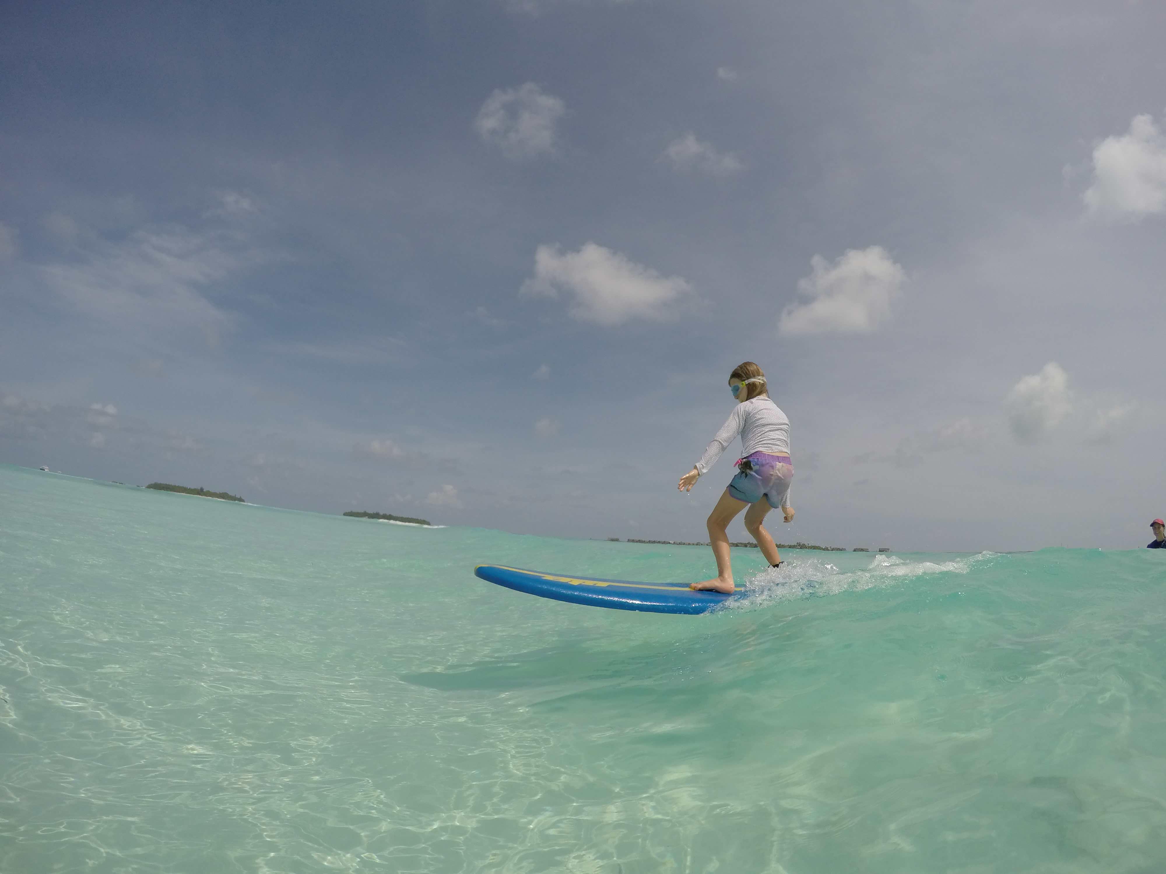 The learn to surf sandbar
