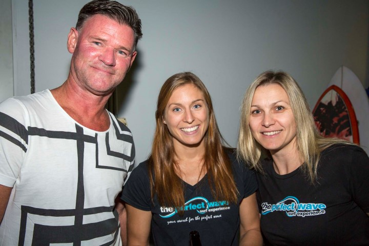 Tim from 2ue, Sarah from Sweden and Sylv from Narra. – Photo Christie.