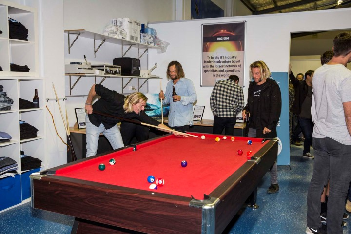 Lachy and his pool shark crew. – Photo Christie.