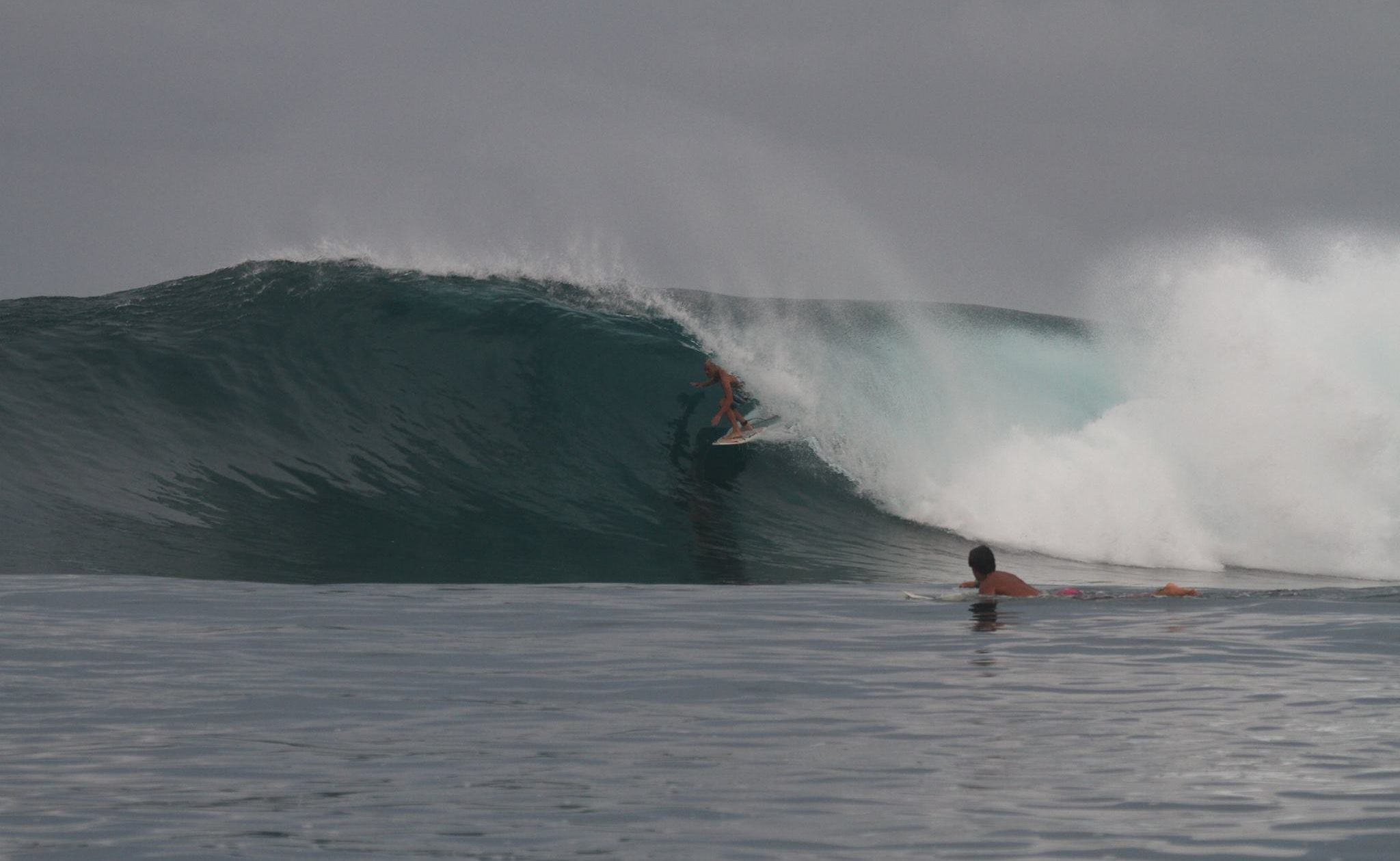 Vaughan Blakey scoring near Male on August 23. Photo - Andy Potts C/O The Perfect Wave