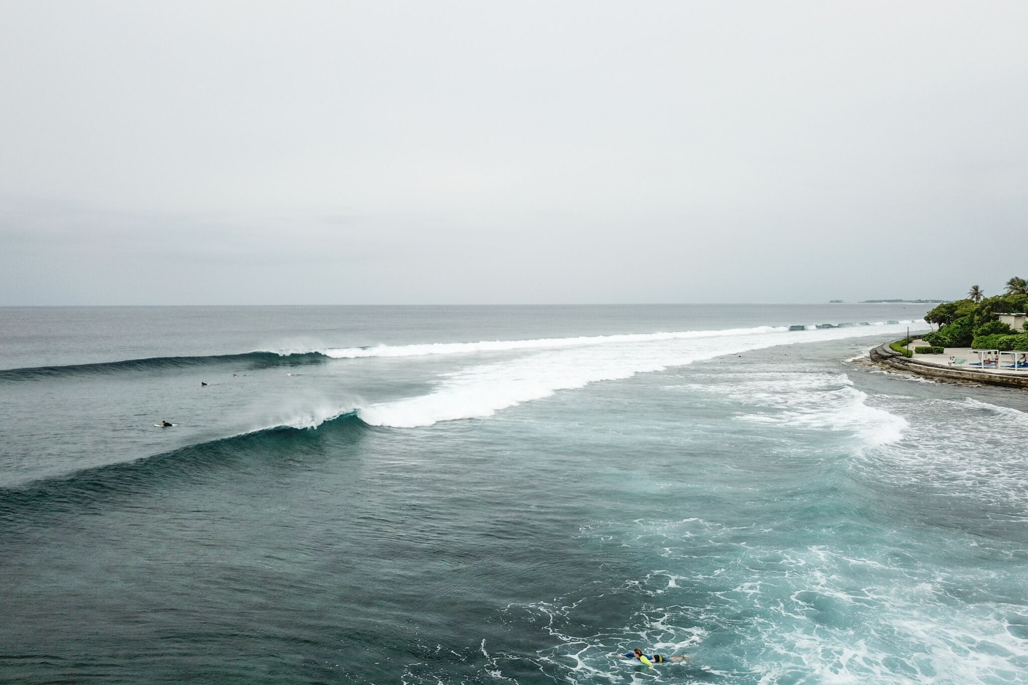 A more side on perspective of Kandooma Right. Photo - Andy Potts C/O The Perfect Wave