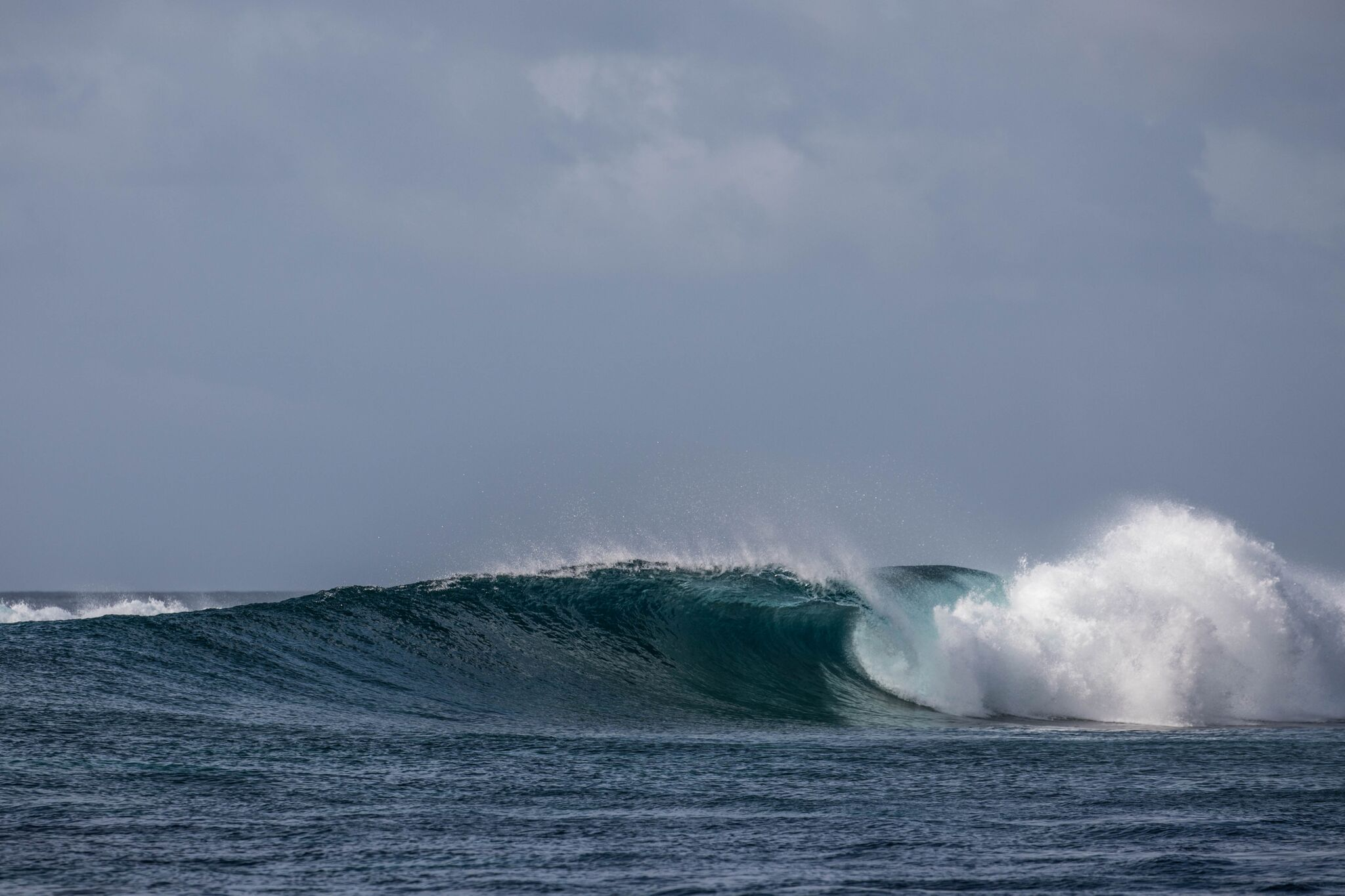 A nice empty slips through unridden at Sultans in early Sept. Photo - Andy Potts C/O The Perfect Wave
