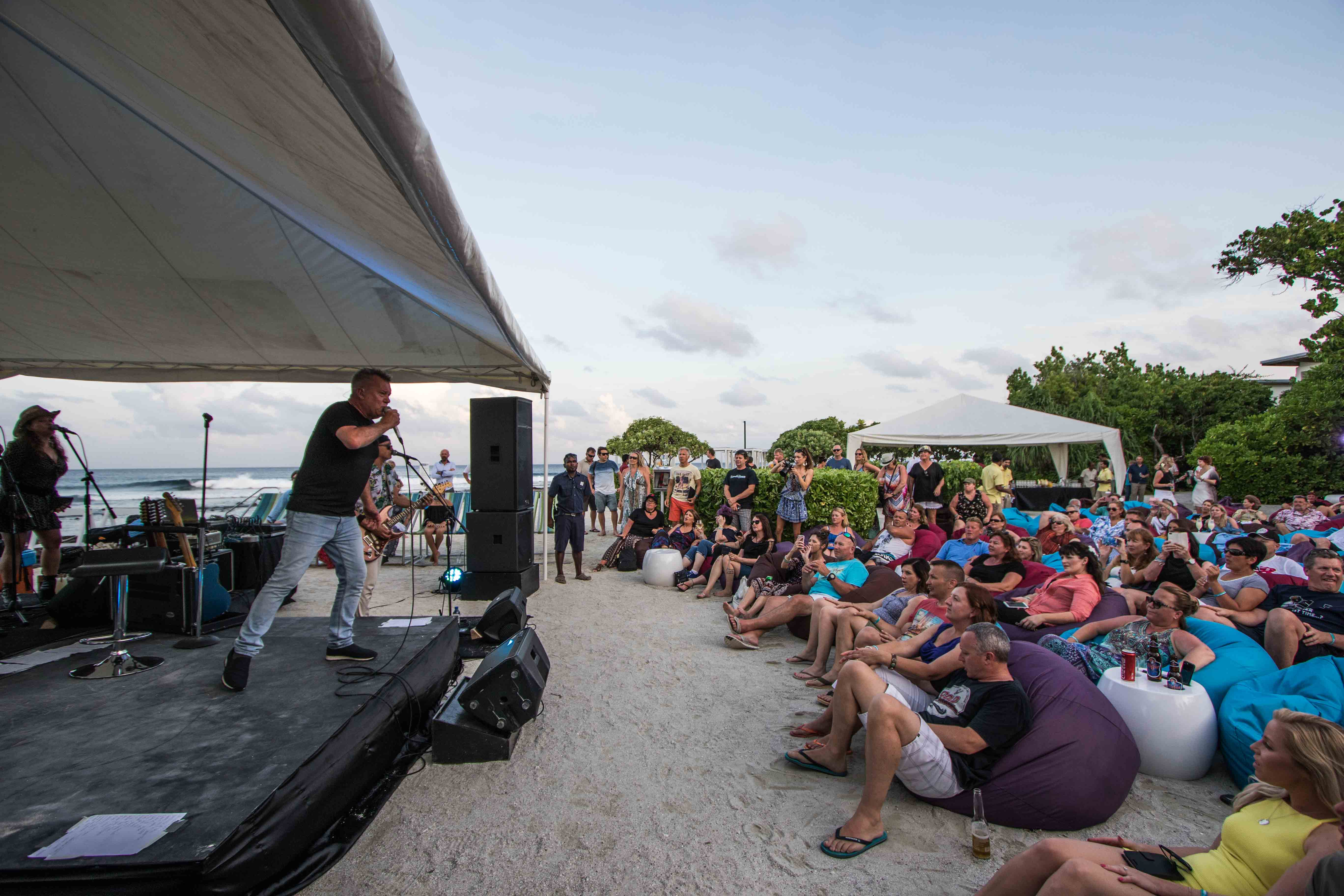 Surfers Point at sunset was the standout setting for gig 3. - Photo Andy Potts.