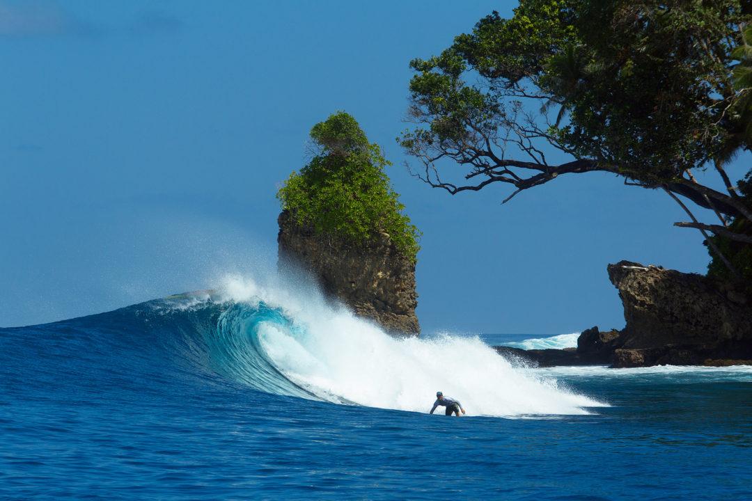 Pinnacles on Telo surfing