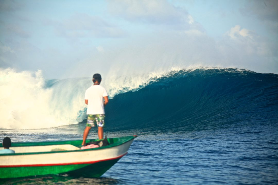 surfing in Asu North Sumatra