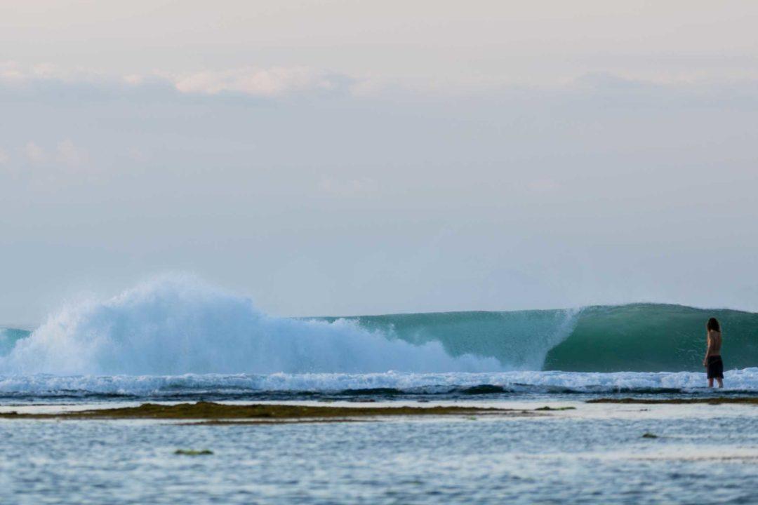 surfing at g-land
